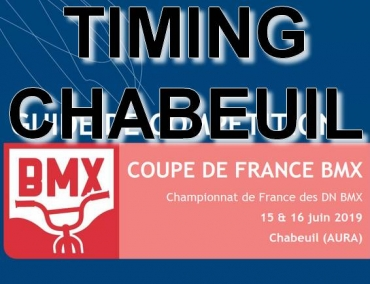 COUPE DE FRANCE - CHABEUIL - TIMING