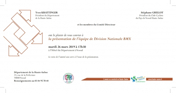 INVITATION PRESENTATION DIVISION NATIONALE CCPVHS