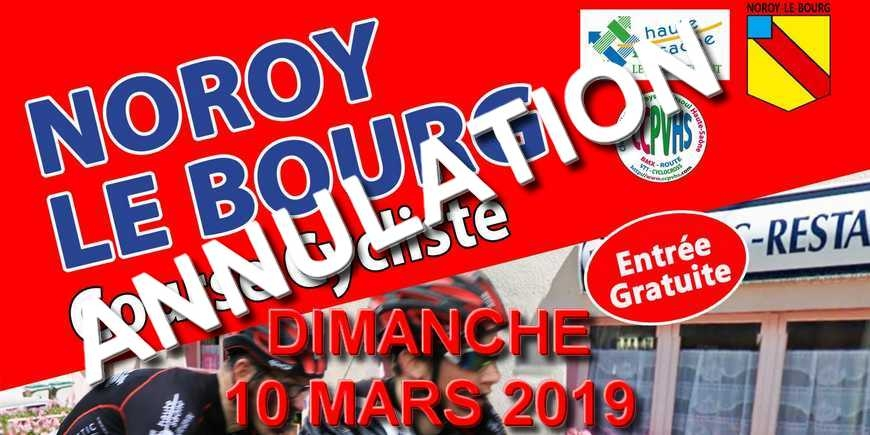 ANNULATION COURSE DE NOROY LE BOURG
