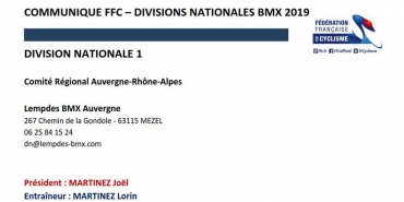 Liste des Divisions Nationales 2019