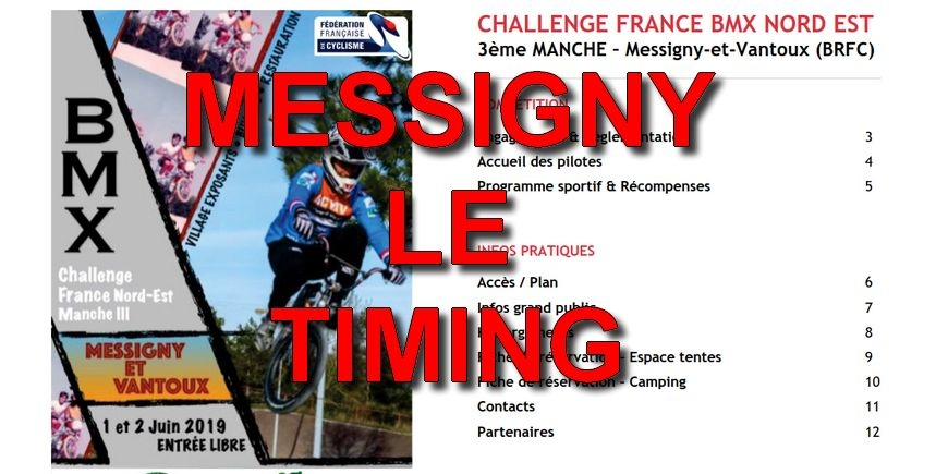 MESSIGNY - Le timing